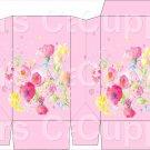 Pink Wild FLowers ~ Square Top Pinch Treat or Gift Box ~ 1 DOZEN