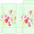 Green Wild FLowers ~ Square Top Pinch Treat or Gift Box 1 EACH