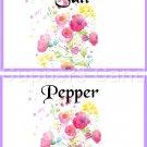 Lavender Border Wild FLowers ~ Salt & Pepper Shaker Covers Wrappers