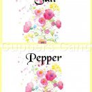 Yellow Border Wild FLowers ~ Salt & Pepper Shaker Covers Wrappers