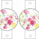 White Wild Flowers ~ Pencil, Straw or Candy Cane Sliders ~ Set of 12