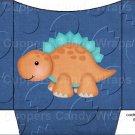 Dinosaur Dark Blue #6 ~ Cookie Pouch ~ Sleeve DOZEN