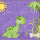 "Dinosaur Purple ~ Horizontal  ~ 6"" X 8"" Foil Pan Lid Cover"