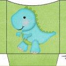 Dinosaur Green #3 ~ Cookie Pouch ~ Sleeve DOZEN