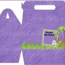 Dinosaur Purple #6 ~ Gable Gift or Snack Box DOZEN