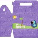 Dinosaur Purple #5 ~ Gable Gift or Snack Box EACH