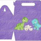 Dinosuar Purple #2 ~ MINI Gable Gift or Snack Box DOZEN