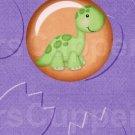 Dinosaur Purple #3 ~ MINI Candy Bar Wrappers 1 DOZEN