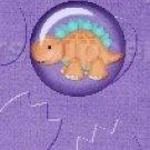 Dinosaur Purple #4 ~ MINI Candy Bar Wrappers 1 DOZEN