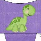 Dinosaur Purple #1 ~ Cookie Pouch ~ Sleeve DOZEN
