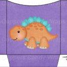 Dinosaur Purple #3 ~ Cookie Pouch ~ Sleeve DOZEN
