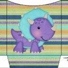 Dinosaur Striped #2 ~ Cookie Pouch ~ Sleeve DOZEN