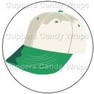 Green Baseball Cap ~ Cupcake Toppers ~ Set of 1 Dozen