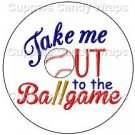 Take Me Out To The Ball Game ~ Cupcake Toppers ~ Set of 1 Dozen