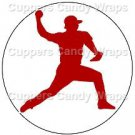 Red & Blue Baseball Players ~ Cupcake Toppers ~ Set of 1 Dozen