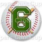 Green Baseball Number 6 ~ Cupcake Toppers ~ Set of 1 Dozen