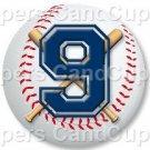Blue Baseball Number 9 ~ Cupcake Toppers ~ Set of 1 Dozen