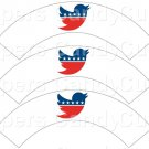Independent  Political Party White ~  Cupcake Wrappers ~ Set of 1 Dozen