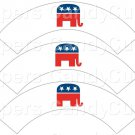 Republican Political Party White ~  Cupcake Wrappers ~ Set of 1 Dozen