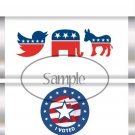 I Voted Republican Democrat, Independent ~ Standard 1.55 oz Candy Bar Wrapper  SOE