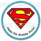 Superman Happy Birthday ~ Super Heroes ~ Cupcake Toppers ~ Set of 1 Dozen