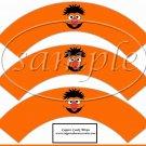 Ernie Sesame Street Inspired ~  Cupcake Wrappers ~ Set of 1 Dozen