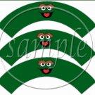 Oscar #2 Sesame Street Inspired ~  Cupcake Wrappers ~ Set of 1 Dozen