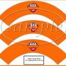 Zoe Sesame Street Inspired ~  Cupcake Wrappers ~ Set of 1 Dozen