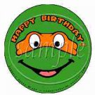 Michelangelo Orange Teenage Mutant Ninja Turtles Inspired by~ Cupcake Toppers ~ Set of 1 Dozen