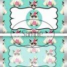 Aqua Grumpy Cat Inspired By ~ Standard 1.55 oz Candy Bar Wrapper  SOE