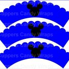 Blue Silhouette Mickey Mouse  Inspired by ~  Scalloped Cupcake Wrappers ~ Set of 1 Dozen