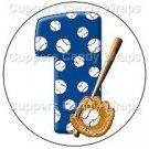 #1 Baseball  ~ Cupcake Toppers ~ Set of 1 Dozen