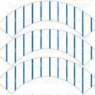 Blue Uniform Stripe Baseball  ~  Scalloped Cupcake Wrappers ~ Set of 1 Dozen