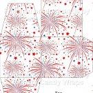 Red White Blue Fireworks  ~ Cupcake Box ~ EACH