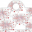 Red White Blue Fireworks ~ Handled Handbag Gift Tote Bag DOZEN