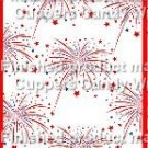 Red White Blue Fireworks ~ MINI Candy Bar Wrappers 1 DOZEN
