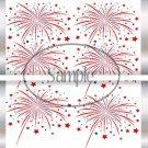 Red White Blue Fireworks  ~ Standard 1.55 oz Candy Bar Wrapper  SOE