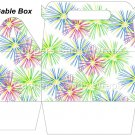 Pink Green Blue Fireworks  ~ Gable Gift or Snack Box EACH