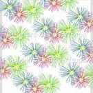 Pink Green Blue Fireworks   ~ Standard 1.55 oz Candy Bar Wrapper  SOE