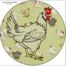 Chicken Wire Hen #5 ~ Cupcake Toppers ~ Set of 1 Dozen