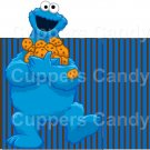Sesame Street Inspired Cookie Monster Blue Stripe  ~ Open Top 3D Treat or Gift Box ~ EACH