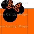 Orange Minnie Mouse Bow Inspired By ~ Open Top 3D Treat or Gift Box ~ EACH