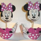 Minnie Mouse Pink Bow & Pink Wrapper ~ Inspired By Disney ~ Cupcake Wrapper & Topper Set