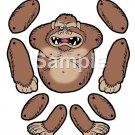 Ape, Monkey Gorilla  Brad Paper Puppet