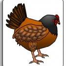 Brown Hen Chicken Brad Paper Puppet