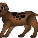 Brown Spotty Dog Puppy Brad Paper Puppet