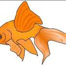 Gold Fish Brad Paper Puppet