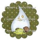 Baby Sleeping ~ Bundle of Joy AA (Ethnic) Baby Shower ~ Cupcake Toppers ~ Set of 1 Dozen