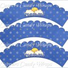 Sunshine Baby ~ Bundle of Joy Blue Baby Boy Baby Shower ~ Cupcake Wrappers ~ Set of 1 Dozen