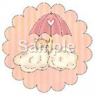Baby In Clouds ~ Bundle of Joy Pink Baby Girl Baby Shower ~ Cupcake Toppers ~ Set of 1 Dozen